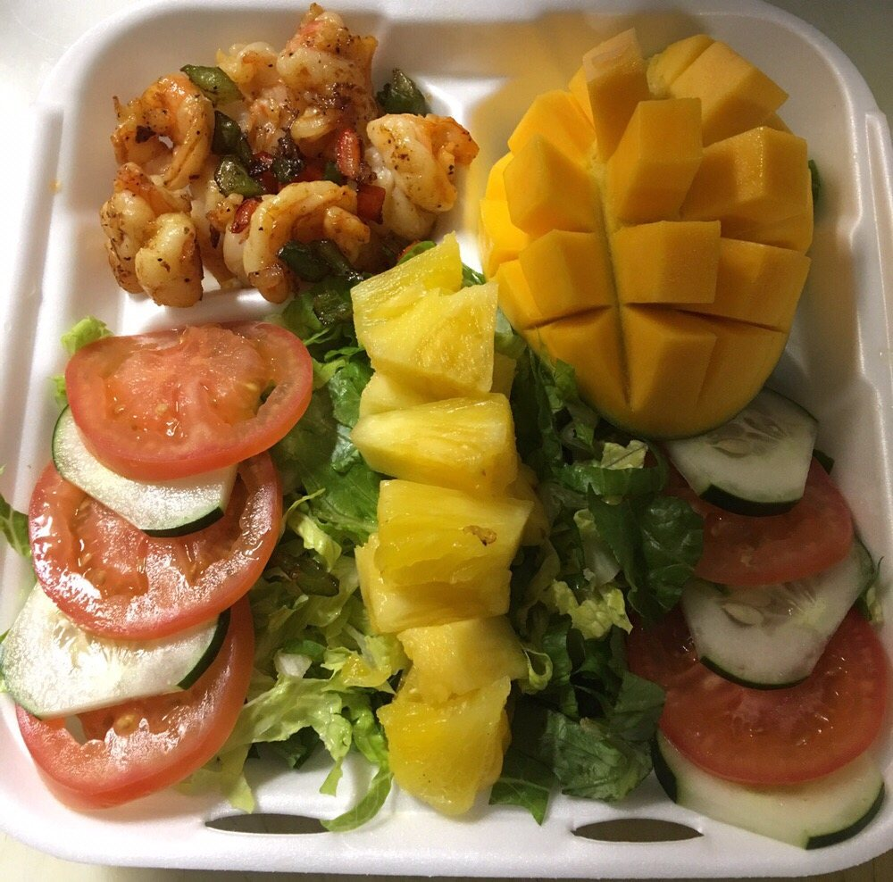 Jamaican Salad Shrimp